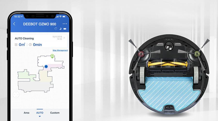 aplicacion Ecovacs Deebot OZMO 900